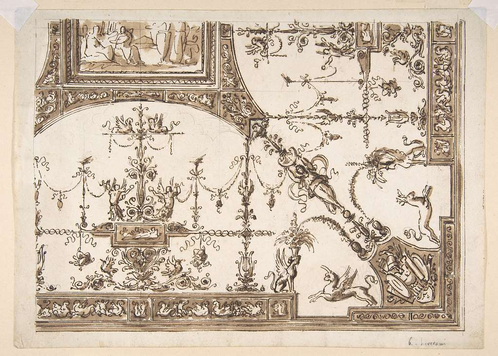 Ceiling Design with Grotesques