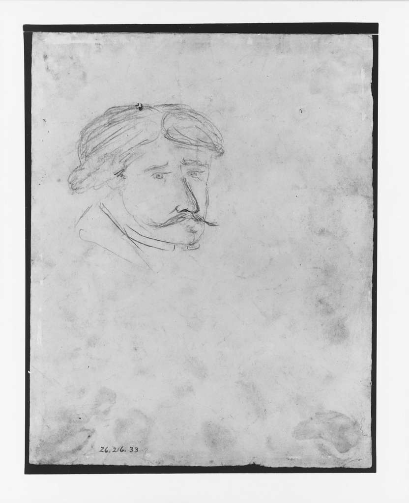 Head of a Man (from McGuire Scrapbook)