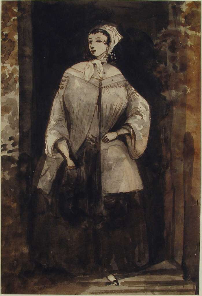 Woman Standing in a Doorway