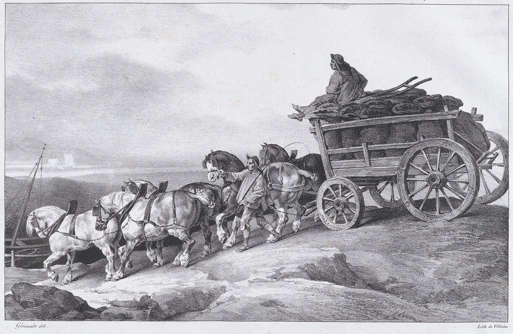 Coal Waggon [sic.] Drawn by Horses
