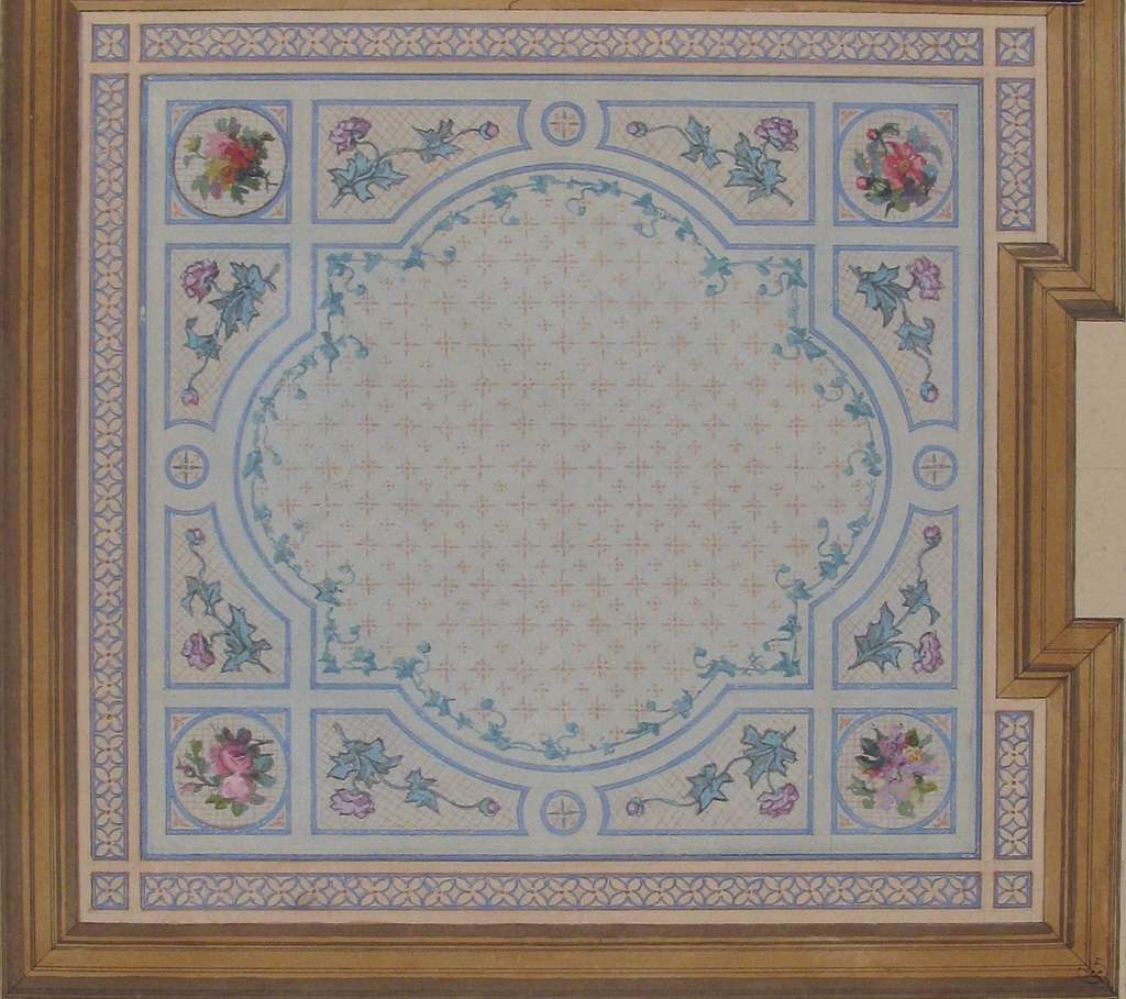 Design for Bathroom Ceiling, Hôtel Cahen d'Anvers