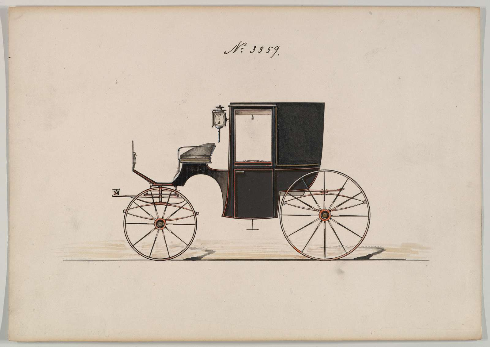 Design for Brougham, no. 3359