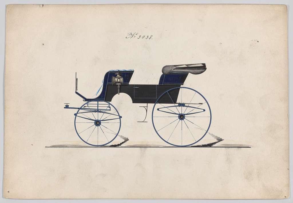 Design for 2 seat Phaeton, no. 3038