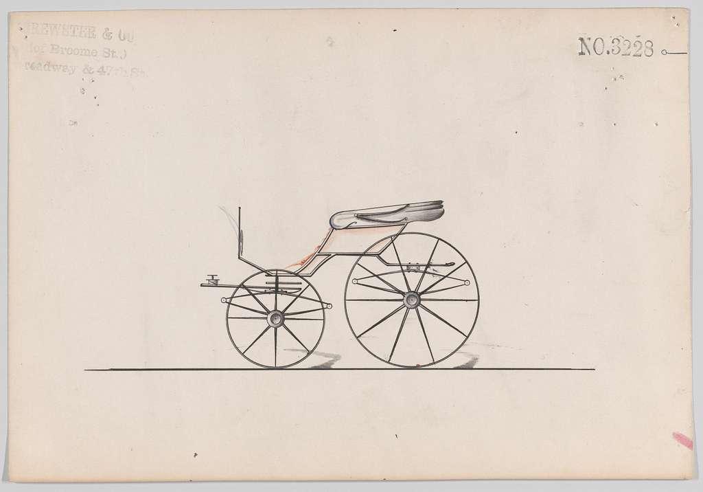 Design for Pony Phaeton, no. 3228a