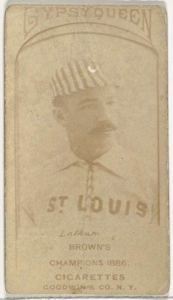 Arlie Latham, 3rd Base, St. Louis Browns, from the Old Judge series (N172) for Old Judge Cigarettes