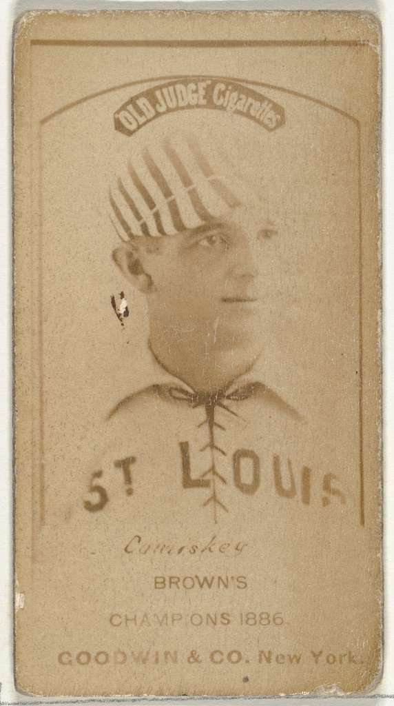 "Charles Albert ""The Old Roman"" Comiskey, 1st Base and Manager, St. Louis Browns, from the Old Judge series (N172) for Old Judge Cigarettes"