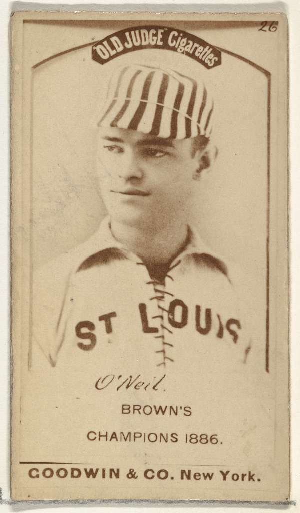 """James Edward """"Tip"""" O'Neill, Left Field, St. Louis Browns, from the Old Judge series (N172) for Old Judge Cigarettes"""