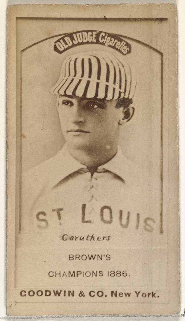"""Robert Lee """"Parisian Bob"""" Caruthers, St. Louis Browns, from the Old Judge series (N172) for Old Judge Cigarettes"""