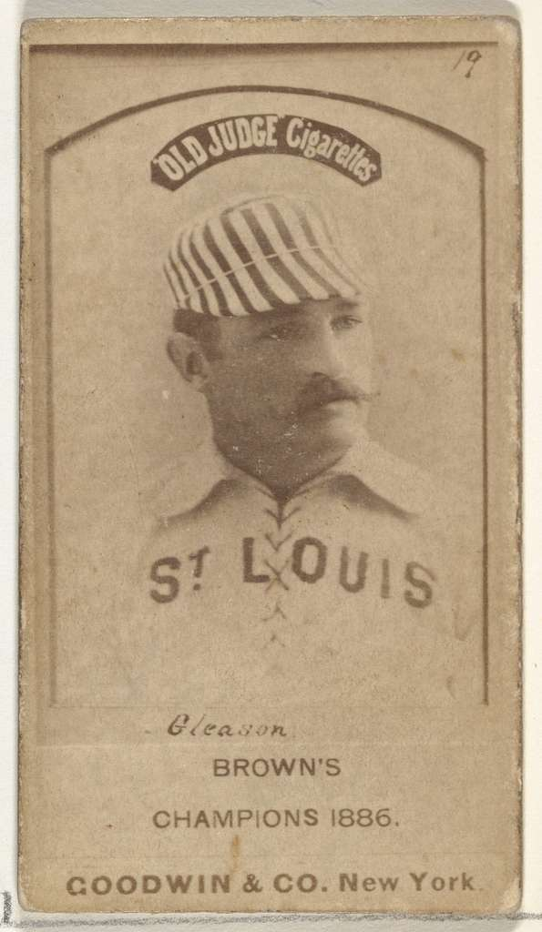 "William G. ""Bill"" Gleason, St. Louis Browns, from the Old Judge series (N172) for Old Judge Cigarettes"