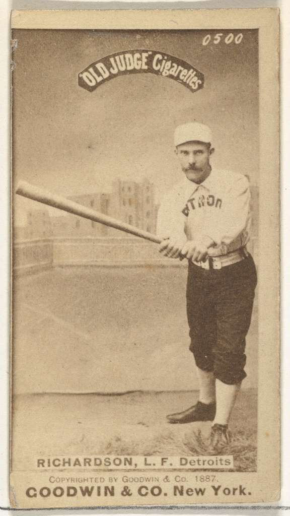 """Abram Harding """"Hardy"""" Richardson, Left Field, Detroit Wolverines, from the Old Judge series (N172) for Old Judge Cigarettes"""