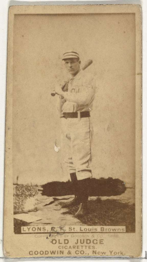 Harry Lyons, Right Field, St. Louis Browns, from the Old Judge series (N172) for Old Judge Cigarettes