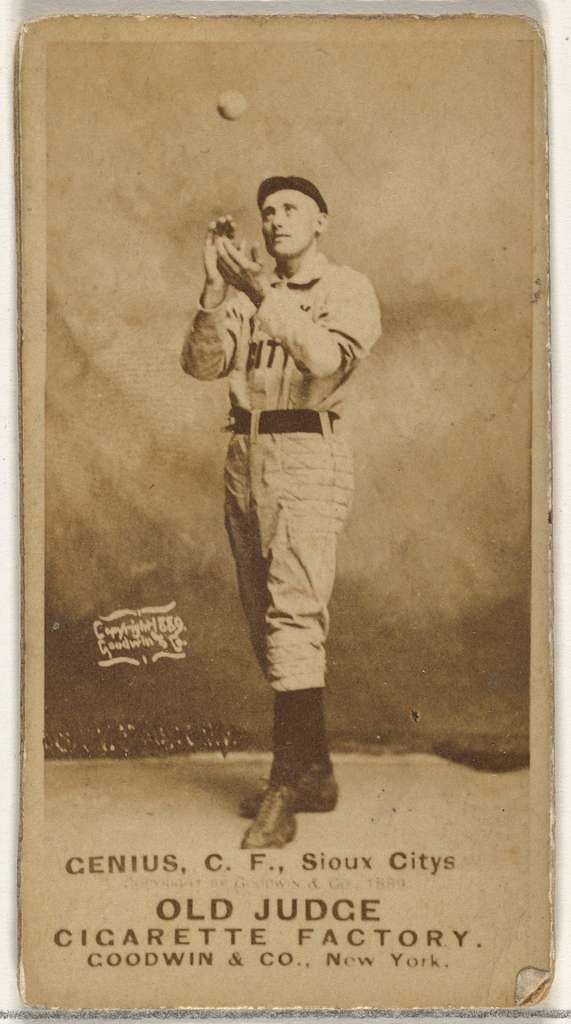 C. Frank Genins, Center Field, Sioux City Corn Huskers, from the Old Judge series (N172) for Old Judge Cigarettes
